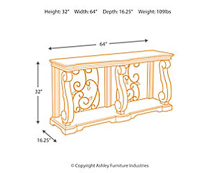 Alymere Sofa/Console Table, , large