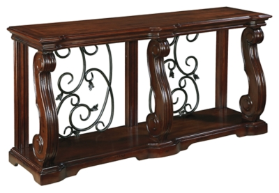 Alymere SofaConsole Table Ashley Furniture HomeStore