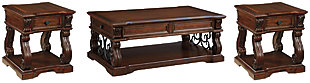Alymere Coffee Table with 2 End Tables, , large