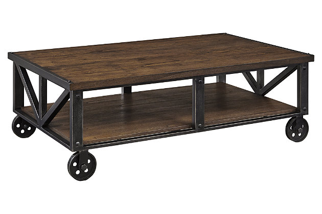 Zenfield Coffee Table by Ashley HomeStore, Brown