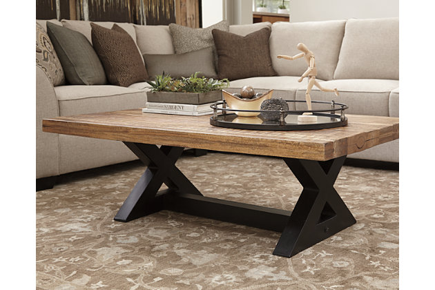 Wesling Coffee Table Ashley Furniture HomeStore - Rectangular cocktail table by ashley furniture