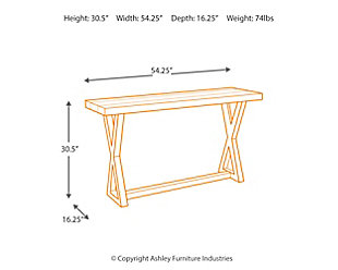 Wesling Sofa/Console Table, , large