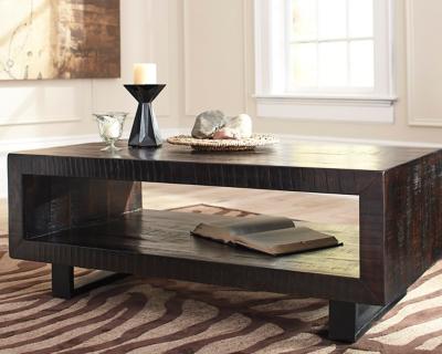 Ashley Parlone Coffee Table, Brown/Black