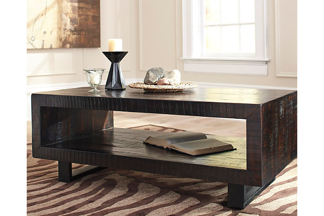 Parlone Coffee Table Ashley Furniture HomeStore - Rectangular cocktail table by ashley furniture