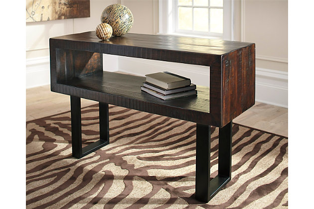Parlone Sofa/Console Table by Ashley HomeStore, Brown & B...