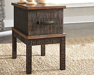 Stanah Chairside End Table with USB Ports & Outlets, , rollover