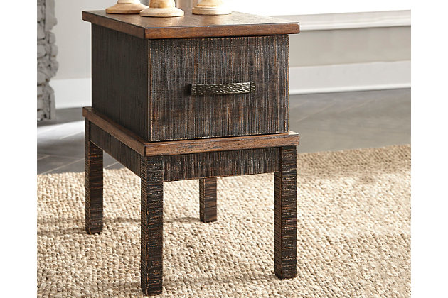 Stanah Chairside End Table with USB Ports & Outlets, , large