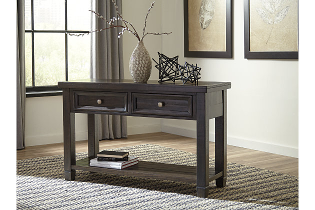 Ashley Furniture Foyer Table : Townser sofa console table ashley furniture homestore