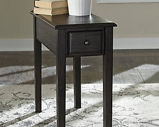 Solid Wood Chairside End Table with USB Ports & Outlets, , rollover