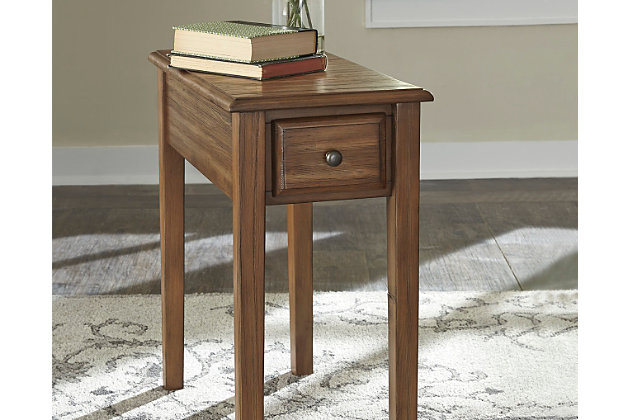 Solid wood chairside end table ashley furniture homestore for Solidworks design table zoom