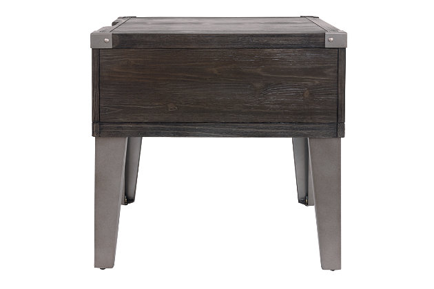 Todoe End Table with USB Ports & Outlets, , large