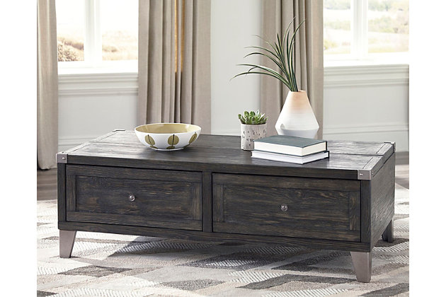 Todoe Coffee Table with Lift Top by Ashley HomeStore, Gray