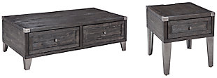 Todoe Coffee Table with 1 End Table, , rollover