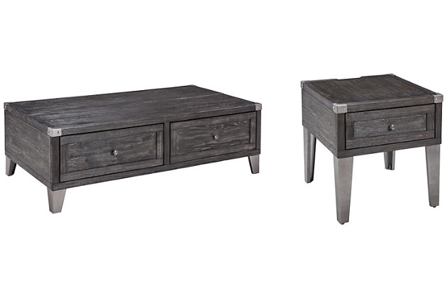 Todoe Coffee Table with 1 End Table, , large