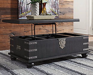 Delmar Coffee Table with Lift Top, , large