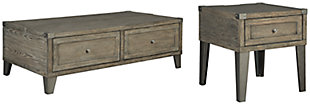 Chazney Coffee Table with 1 End Table, , large