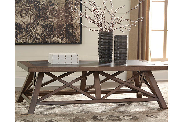 Campfield Coffee Table by Ashley HomeStore, Brown