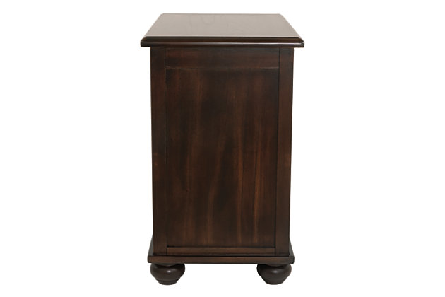 Barilanni Chairside End Table with USB Ports & Outlets, , large