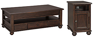 Barilanni Coffee Table with 1 End Table, , large