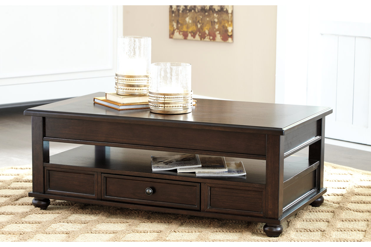 Barilanni Coffee Table With Lift Top Ashley Furniture Homestore