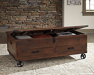 Norlandon Coffee Table With Storage, , large