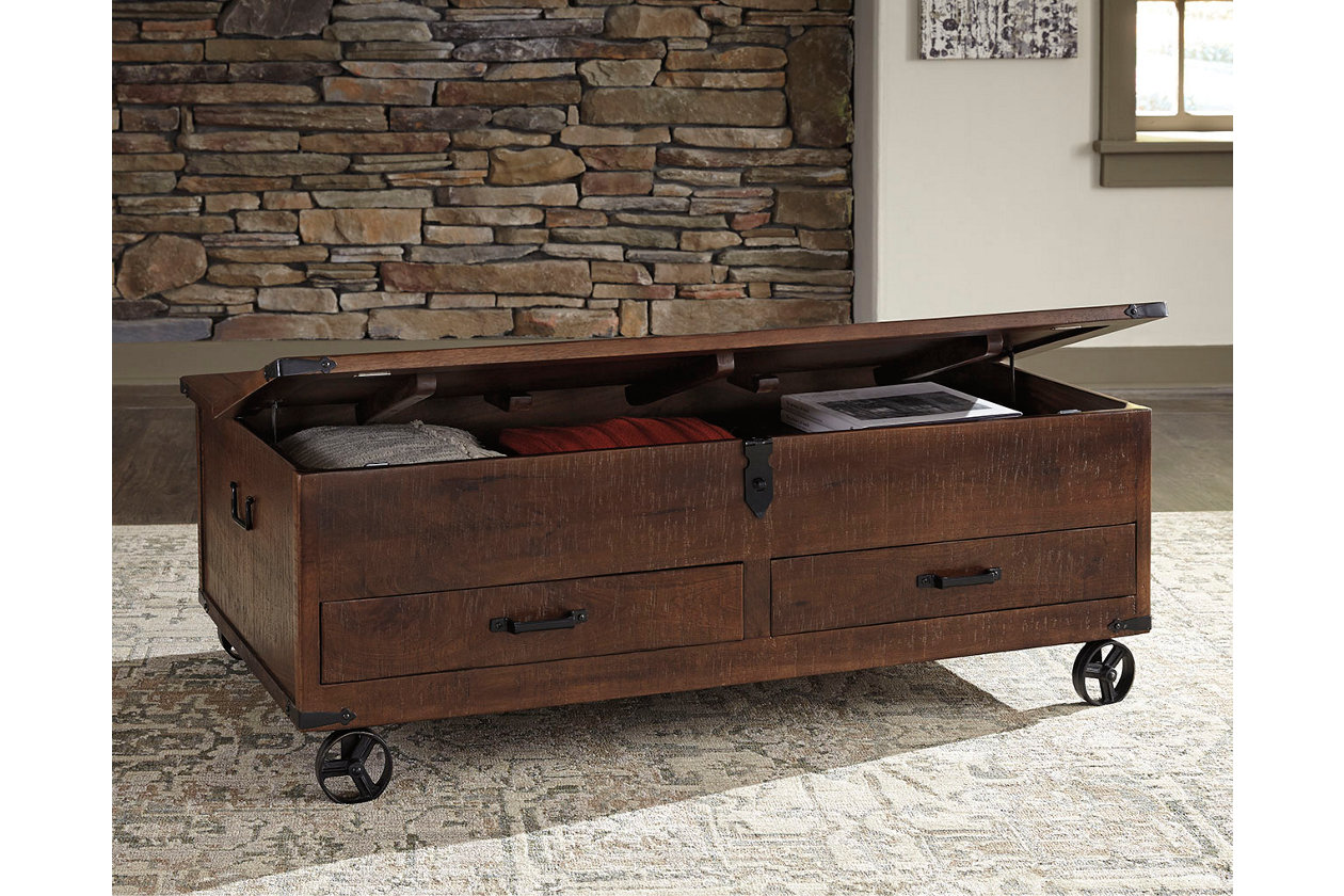Fabulous Norlandon Coffee Table With Storage Ashley Furniture Homestore Dailytribune Chair Design For Home Dailytribuneorg