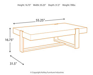 Paluxy Coffee Table Ashley Furniture HomeStore - Coffee table depth