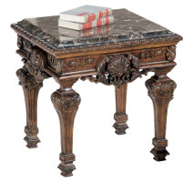 Dark Brown Stone Table Top Square End Table Will Enhance Your Living Room  Décor