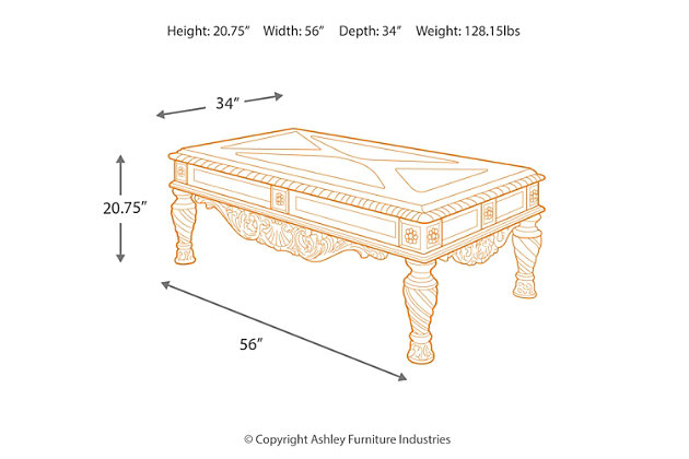 North Shore Coffee Table Ashley Furniture Homestore