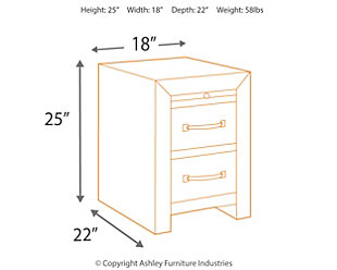 Sommerford Chairside End Table, , large
