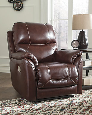 Dellington Power Recliner, Brown, rollover