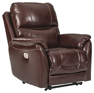 Dellington Power Recliner, Brown, large