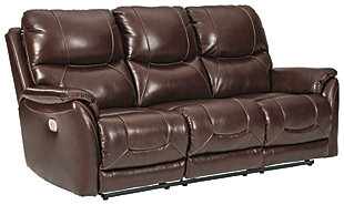Dellington Power Reclining Sofa, Brown, large