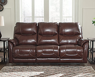Dellington Power Reclining Sofa, Brown, rollover