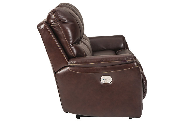 Dellington Power Reclining Sofa, Walnut, large