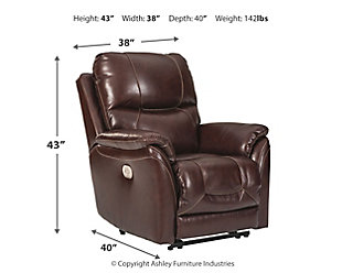Dellington Power Recliner, Walnut, large