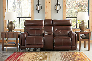 Sessom Power Reclining Loveseat with Console, , rollover