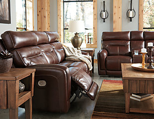 Sessom Power Reclining Loveseat with Console, , large