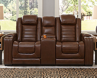 Backtrack Power Reclining Loveseat with Console, , rollover