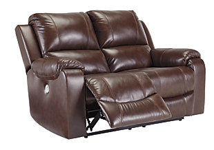 Rackingburg Power Reclining Loveseat, Mahogany, large