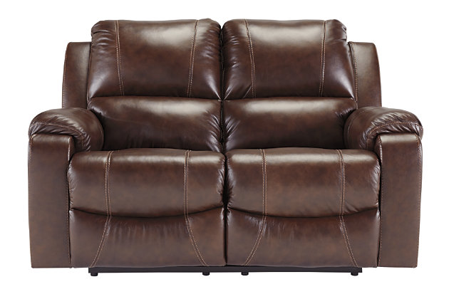 Rackingburg Reclining Loveseat, Mahogany, large