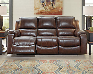 Rackingburg Power Reclining Sofa, Mahogany, rollover