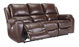 Rackingburg Power Reclining Sofa, Mahogany, large