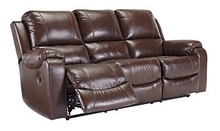Rackingburg Reclining Sofa, Mahogany, large
