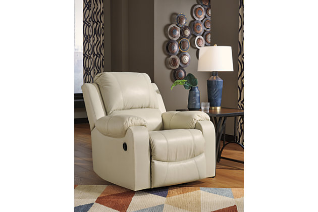 Rackingburg Recliner, Cream, large