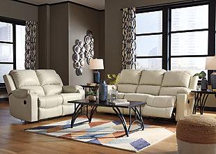 Rackingburg Reclining Sofa, Cream, large
