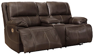 Ricmen Power Reclining Loveseat, Walnut, large