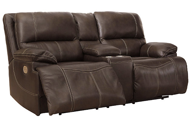 Ricmen 3-Piece Power Reclining Sectional, Walnut, large
