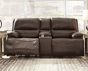 Ricmen Power Reclining Loveseat, Walnut, rollover