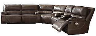 Ricmen 3-Piece Reclining Sectional with Power, Walnut, large